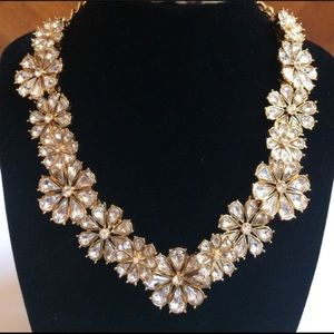 Kate Spade Clear As Crystal Short Floral Necklace